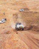 Amateur race in the desert, summer day. Stock Photos