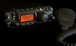 Amateur Radio Gear. Against black royalty free stock photos