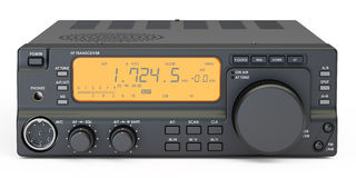 Amateur radio transceiver, 3D rendering Stock Photography