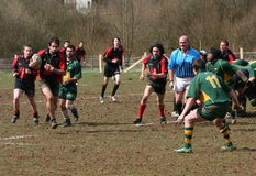 Amateur Rugby Game Royalty Free Stock Image