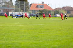 Amateur soccer match Royalty Free Stock Images