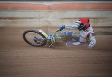 Amateur speedway racer during training in Liberec Czech Republic. Amateur polish speedway racer during training in Liberec city of north Czech Republic, Europe stock photo