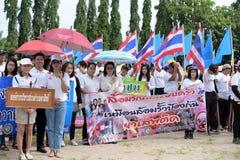Amateurathleten von den verschiedenen Gruppen in Pluak Daeng nahmen an der Tätigkeit teil stockfoto