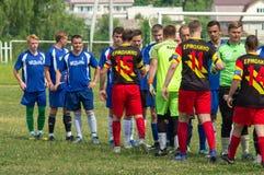 Amateurfußballwettbewerbe in der Kaluga-Region von Russland stockfotografie