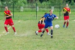 Amateurfußballwettbewerbe in der Kaluga-Region von Russland stockfotos