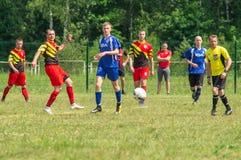 Amateurfußballwettbewerbe in der Kaluga-Region von Russland lizenzfreie stockfotos