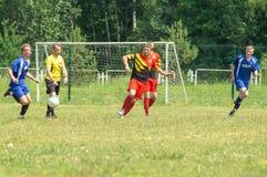 Amateurfußballwettbewerbe in der Kaluga-Region von Russland stockbilder
