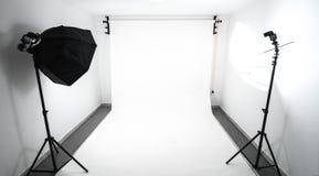 Amateurhuis gemaakt tot fotostudio Stock Foto's