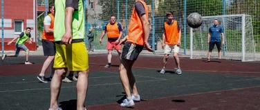 Amateurvoetbal in de Oekraïne stock foto's