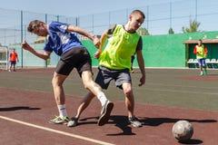 Amateurvoetbal in de Oekraïne royalty-vrije stock afbeelding