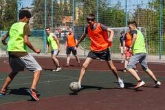Amateurvoetbal in de Oekraïne royalty-vrije stock fotografie
