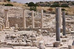 Amathus废墟,利马索尔,塞浦路斯 免版税库存照片