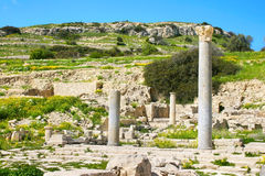 Amathus ruins. Apollo Temple and ruins at Amathus, one of the most ancient royal cities of Cyprus, on the east side of Limassol.Its age is almost 2000 years Stock Image