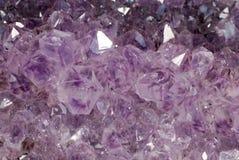Кристаллы amathyst текстуры Стоковая Фотография RF