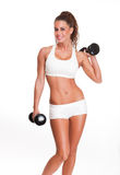 Amating fitness brunette. Stock Photo