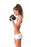Amating fitness brunette. Stock Photo
