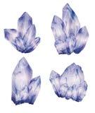 Amatista Crystal Clusters Fotografía de archivo libre de regalías
