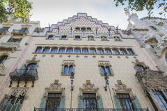 Amatller House. Barcelona, Spain - August 12, 2016; Amatller House, modernist building, adjacent to the Casa Batllo. It is a work of architect Josep Puig Stock Photography