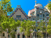 Amatller House and House of Bones. Barcelona, Spain Royalty Free Stock Photos