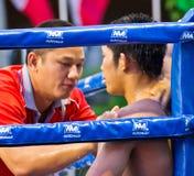 Amator jest Muaythai światu mistrzostwami zdjęcie stock