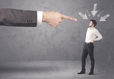 Amatorski biznesmen w stresie Fotografia Stock