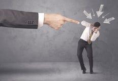 Amatorski biznesmen w stresie Zdjęcia Stock