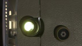 Amatorski kino Projektor dla 8mm filmu 1960s, 1970s, 1980s rok Domowy kino Ekranowi super 8 Materiał filmowy klamerka 4K zdjęcie wideo