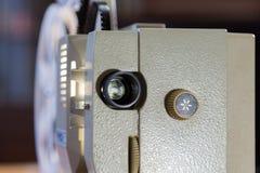Amatorski kino Projektor dla 8mm filmu 1960s, 1970s, 1980s rok Domowy kino Ekranowi super 8 Fotografia Stock