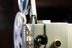 Amatorski kino Projektor dla 8mm filmu 1960s, 1970s, 1980s rok Domowy kino Ekranowi super 8 Obrazy Stock