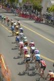 Amatörmässiga mancyklister Fotografering för Bildbyråer