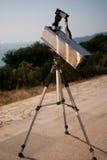 Amature making telescope. Newtonian reflective telescope made by the author royalty free stock photos