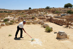 Amatzia洞-以色列  免版税库存照片