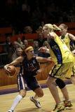 Amaya Valderomo - spanish basketball star. Amaya Valdemoro from spanish team Ros Casares during euroleague woman quarterfinal between ZVVZ USK Prague and Ros Royalty Free Stock Image