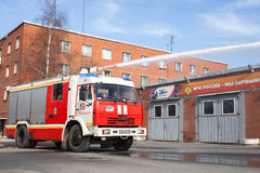 Amaz truck 43253 as a Russian fire engine Stock Image