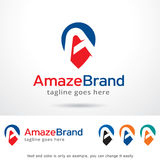 Amaze Letter A Logo Template Design Vector. This design suitable for logo or icon. Color and text can be changed easily Royalty Free Stock Images