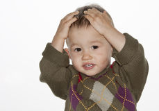 The amazed baby Royalty Free Stock Images
