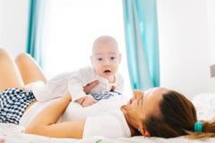 Amazed baby boy Stock Images