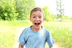 Amazed boy Royalty Free Stock Photos
