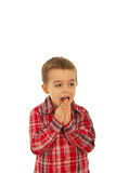 Amazed boy looking away Royalty Free Stock Photos