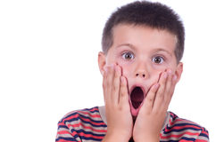Amazed boy Stock Photography