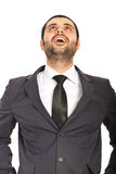 Amazed business man looking up Royalty Free Stock Image
