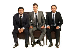 Amazed business men Stock Images