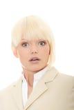 Amazed business woman Stock Photo