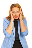 Amazed business woman Stock Images