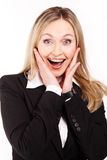 Amazed businesswoman Royalty Free Stock Photo