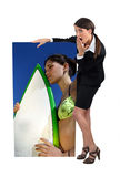 Amazed businesswoman Royalty Free Stock Images