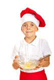 Amazed chef boy Stock Photo