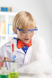 Amazed chemist Royalty Free Stock Photography