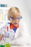 Amazed chemist Royalty Free Stock Photography
