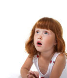 Amazed child. Portrait of the surprised little girl Royalty Free Stock Photos